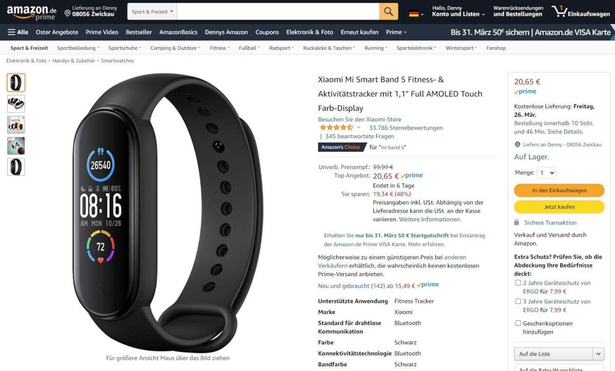 Xiaomi Mi Band 5 20 Euro Bei Amazon