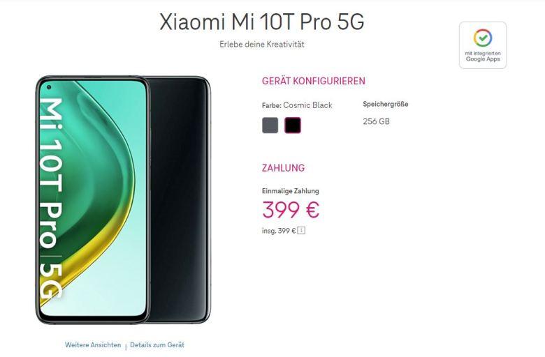 2021 04 01 19 17 31 Xiaomi Mi 10t Pro 5g In Cosmic Black Ohne Vertrag Telekom