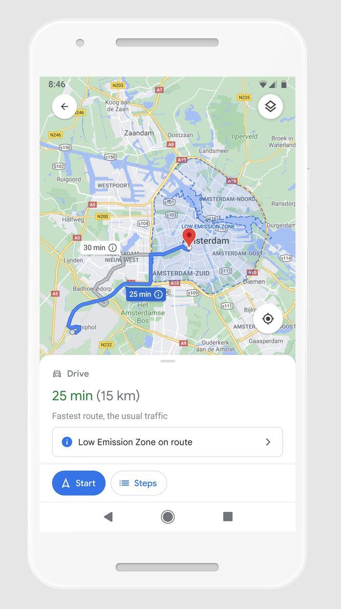 Umweltplaketten Google Maps