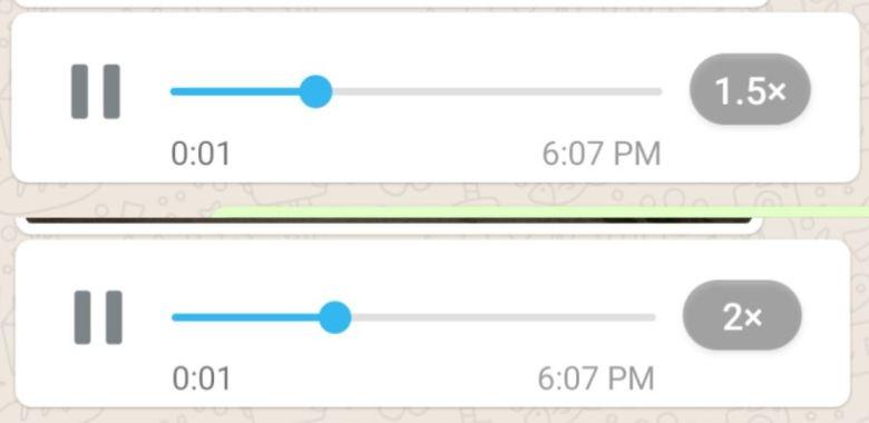 Whatsapp Wiedergabgeschwindigkeit Taste