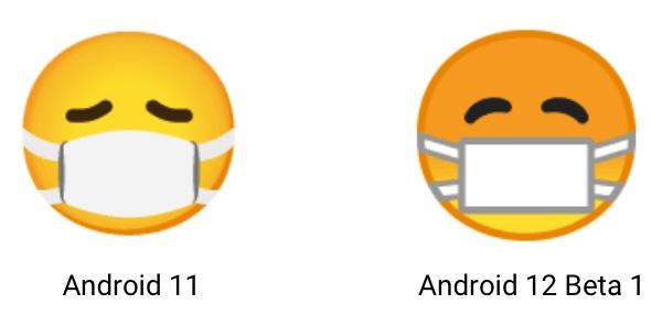 Android 12 Masken Emoji