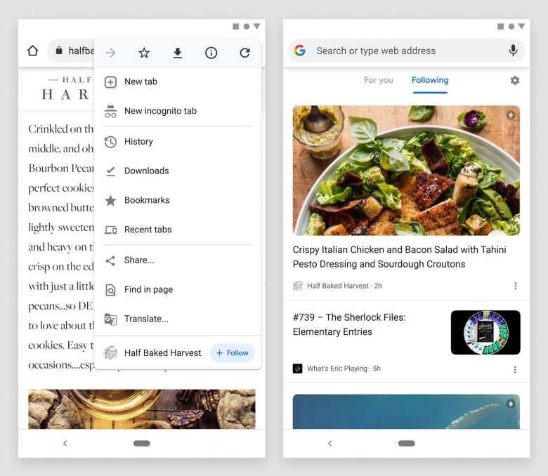 Google Chrome Follow Funktion