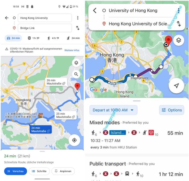 Nueva planificación de rutas de Google Maps para Android