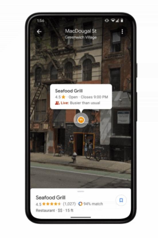 Google Maps Live View Geschafte