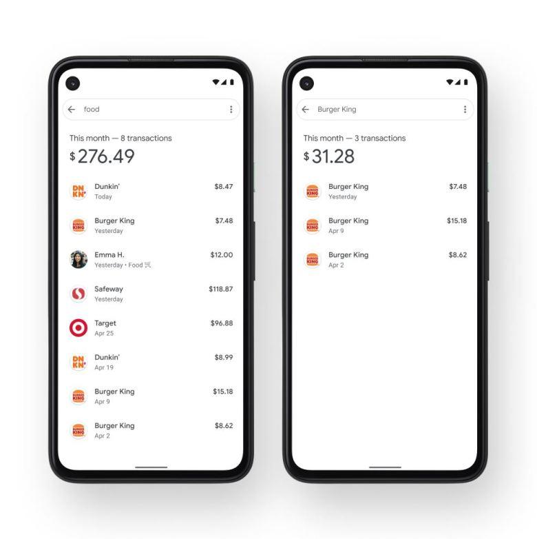 Google Pay Ausgaben