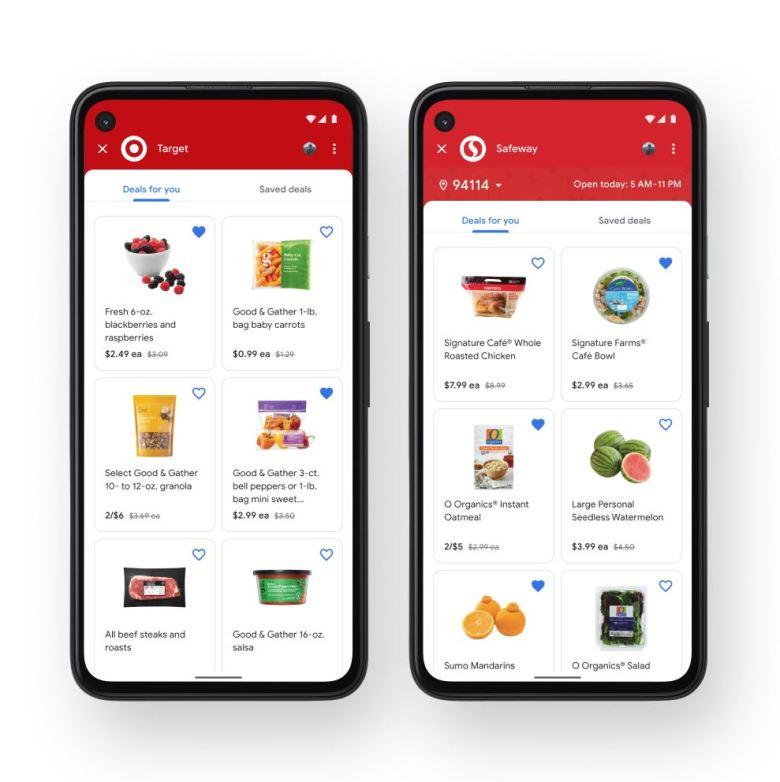 Google Pay Lebensmittel
