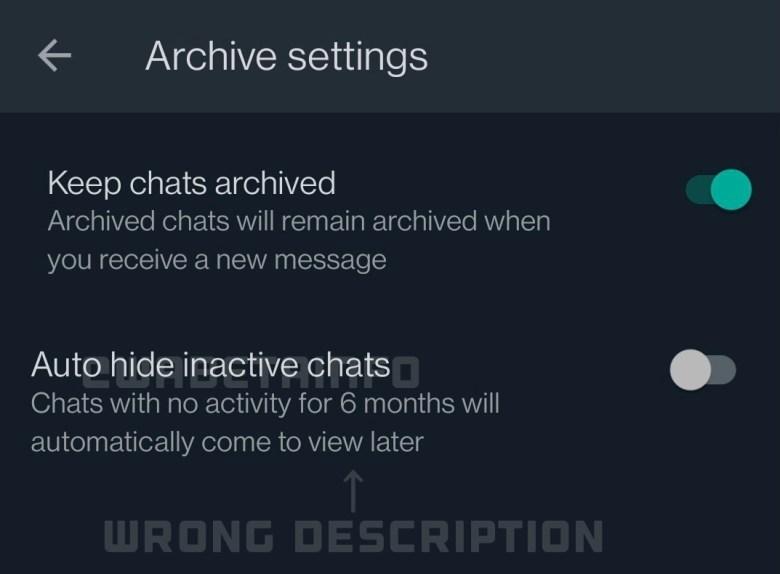 Whatsapp Archiv Einstellungen Leak