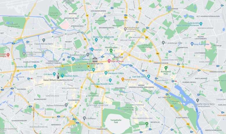 Berlin Google Maps