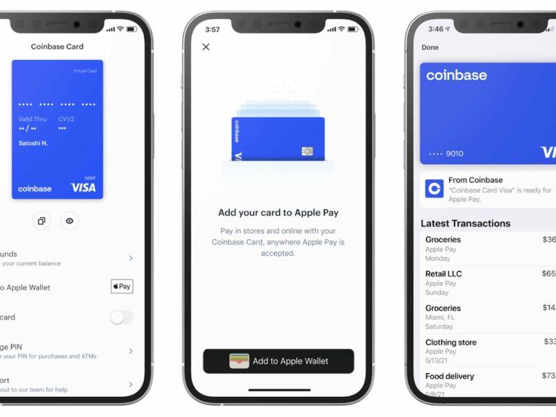 Coinbase Card Apple Pay Google Pay