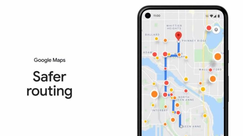 Ruta segura de Google Maps
