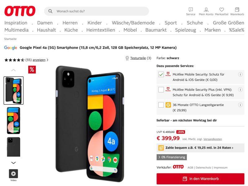 Google Pixel 4a 399 Euro Otto