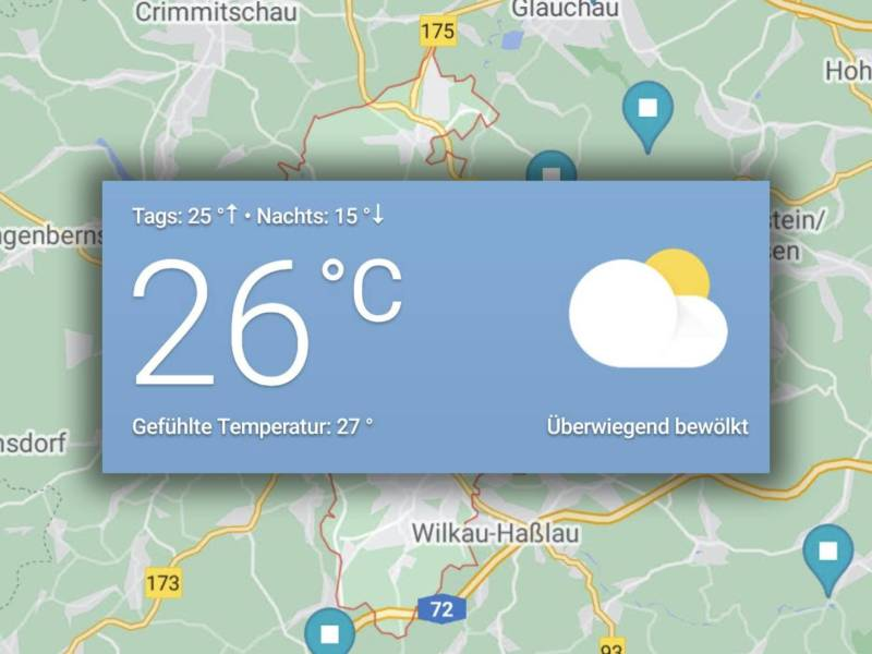 Wetter Google Maps Montage