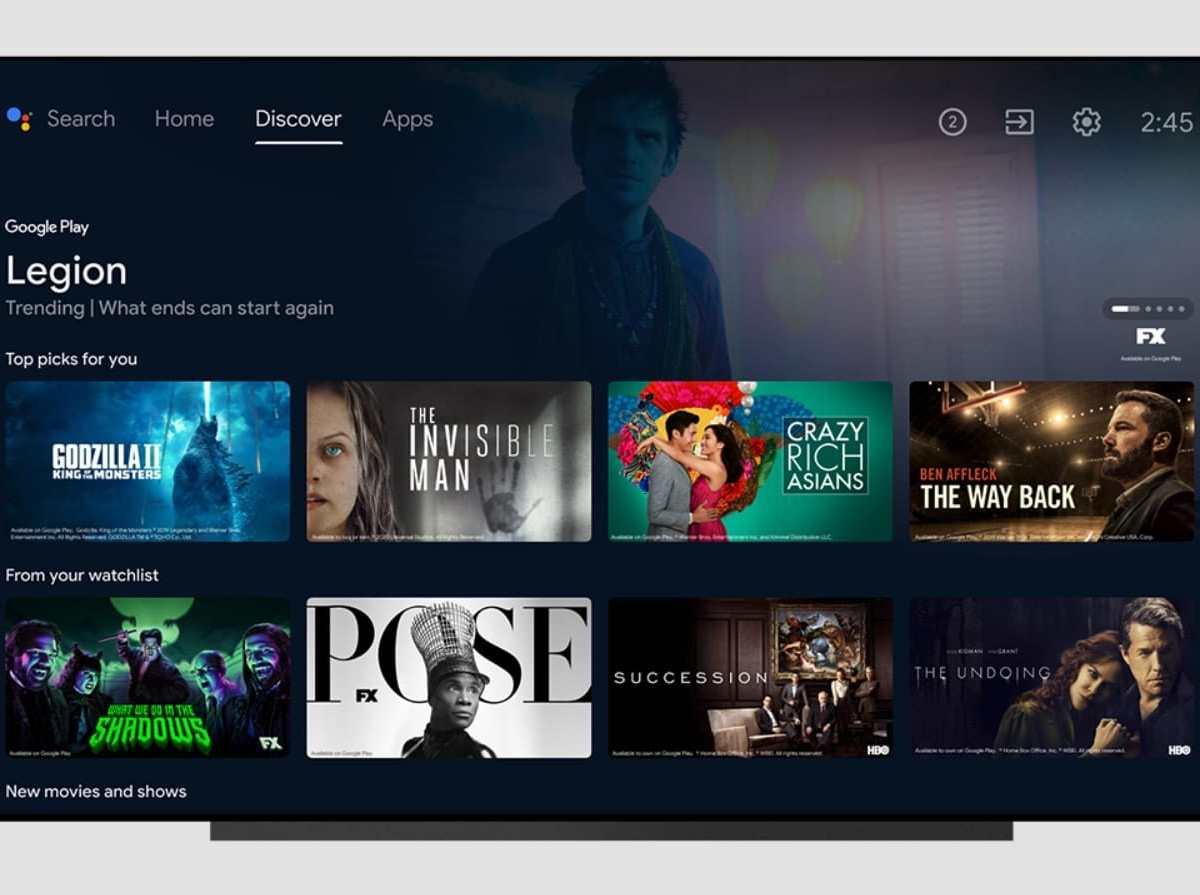 Android Tv Discover Mit Merkliste