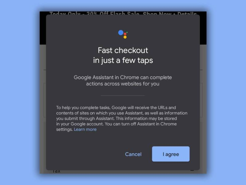 Google Assistant Fast Checkout