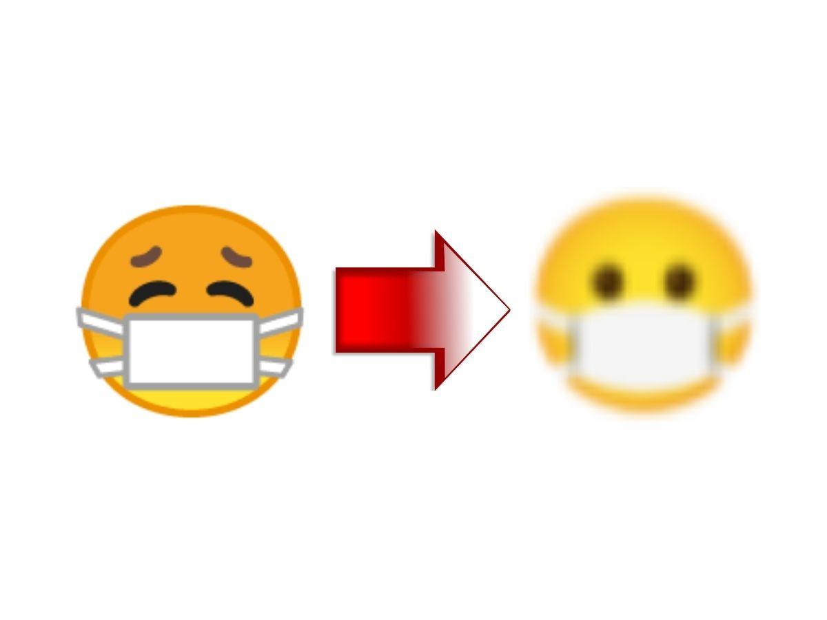 Google Neue Emojis Android 12 Noto Font Maske öffnet Augen