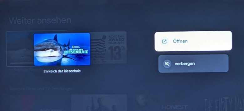Google Tv Weiter Ansehen Verbergen