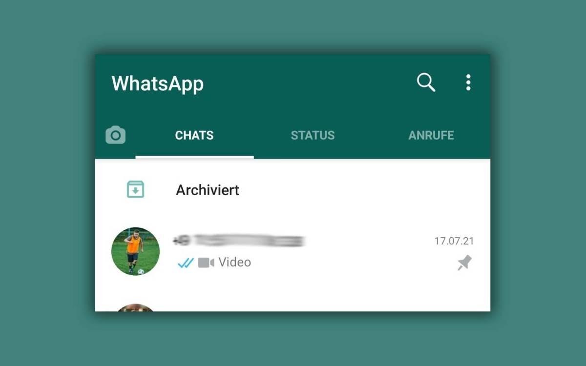 Whatsapp Archivierttaste
