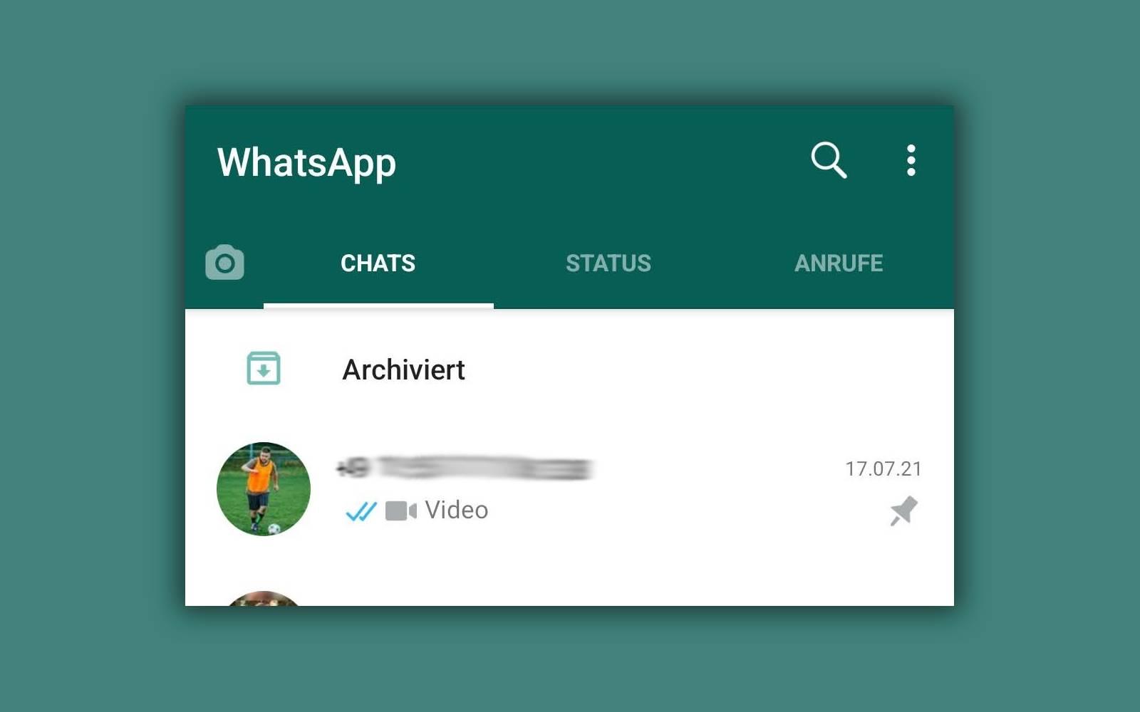 WhatsApp: So wirst du die Archivtaste wieder los
