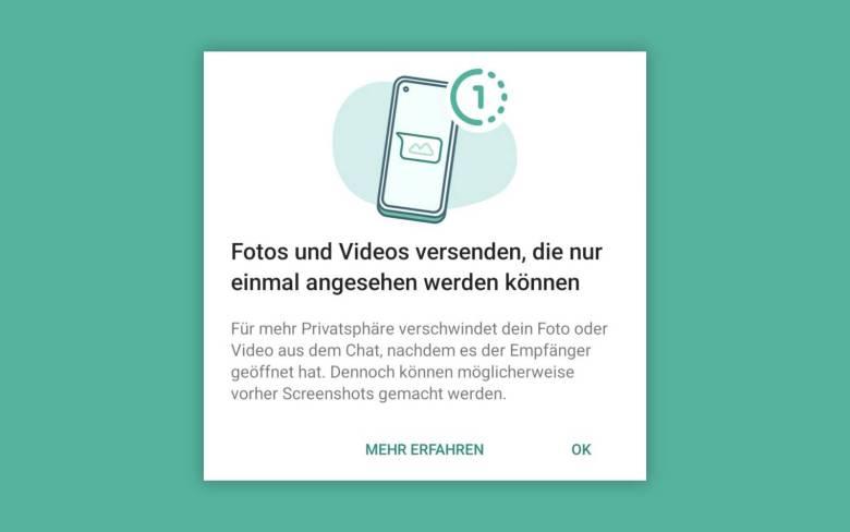 Whatsapp Einmal Anschauen 1