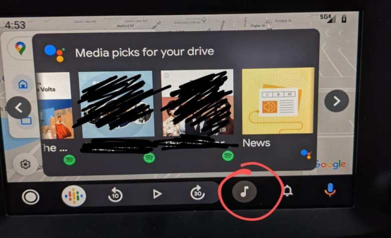 Android Auto media selections leaked