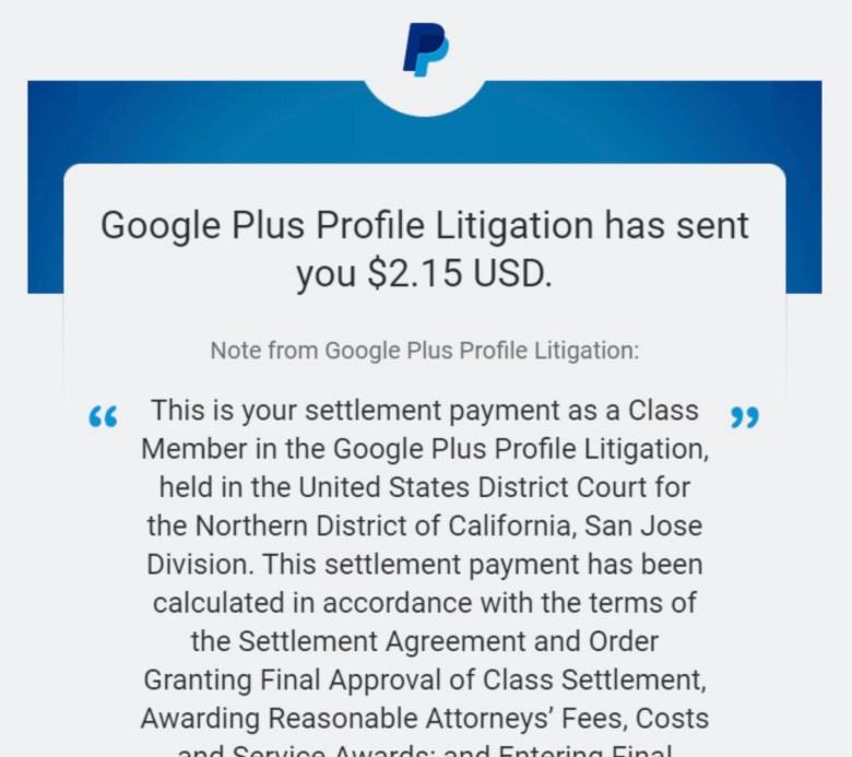 Google Plus Klage Schadensersatz Screenshots