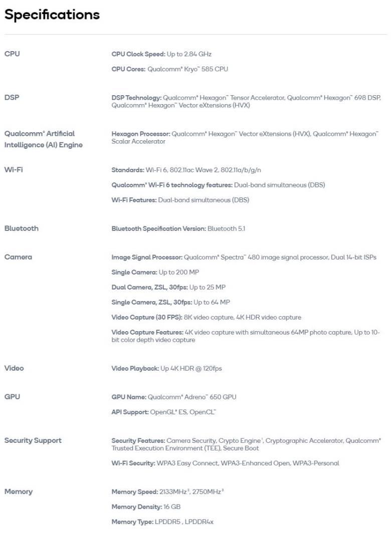Qualcomm Rb5 Flight Platform 5g Specifications