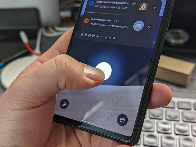 Fingerabdruck Pixel 6