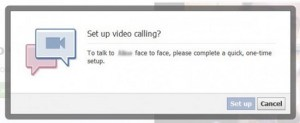 Video call setup prompt