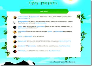 live tweets