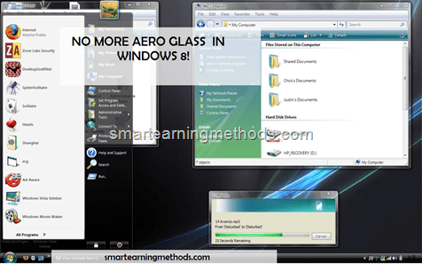 NO AERO GLASS VIEW IN WINDOWS 8
