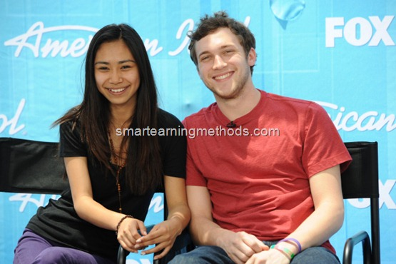 AMERICAN IDOL: Finalists Jessica Sanchez (L) and Phillip Phillips (R) at the AMERICAN IDOL press conference Monday, May 21 at the Nokia Theater in Los Angeles, CA. CR: Michael becker / FOX.