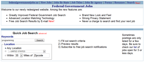 Federal Government Jobs