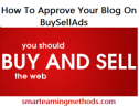How To Approve Your Blog On BuySellAds?