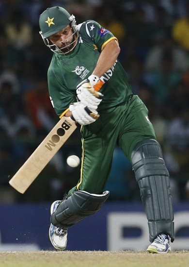 shahid Afridi in ICC world cup 2012