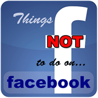 not to do on facebook