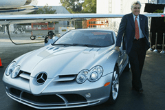 jay leno with his mercedes