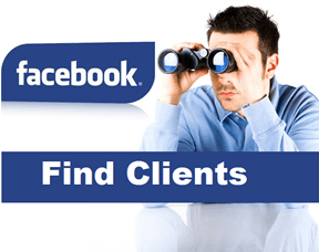 find freelance clients on facebook