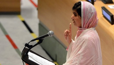 Malala speaking in UN