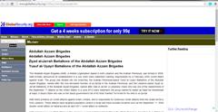 Abdullah Azzam Brigades Popular Blogs Run by Militant Organizations