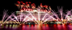 Bellagio Hotel opening fireworks. 10/18/98