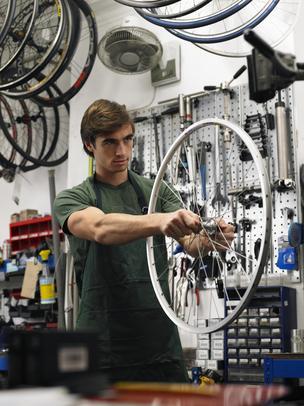 Bicycle repairing business