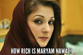 How rich is maryam nawaz
