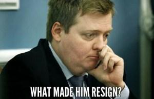 Why Sigmundur David Gunnlaugsson resigned