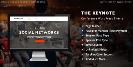 The keynote wordpress themes