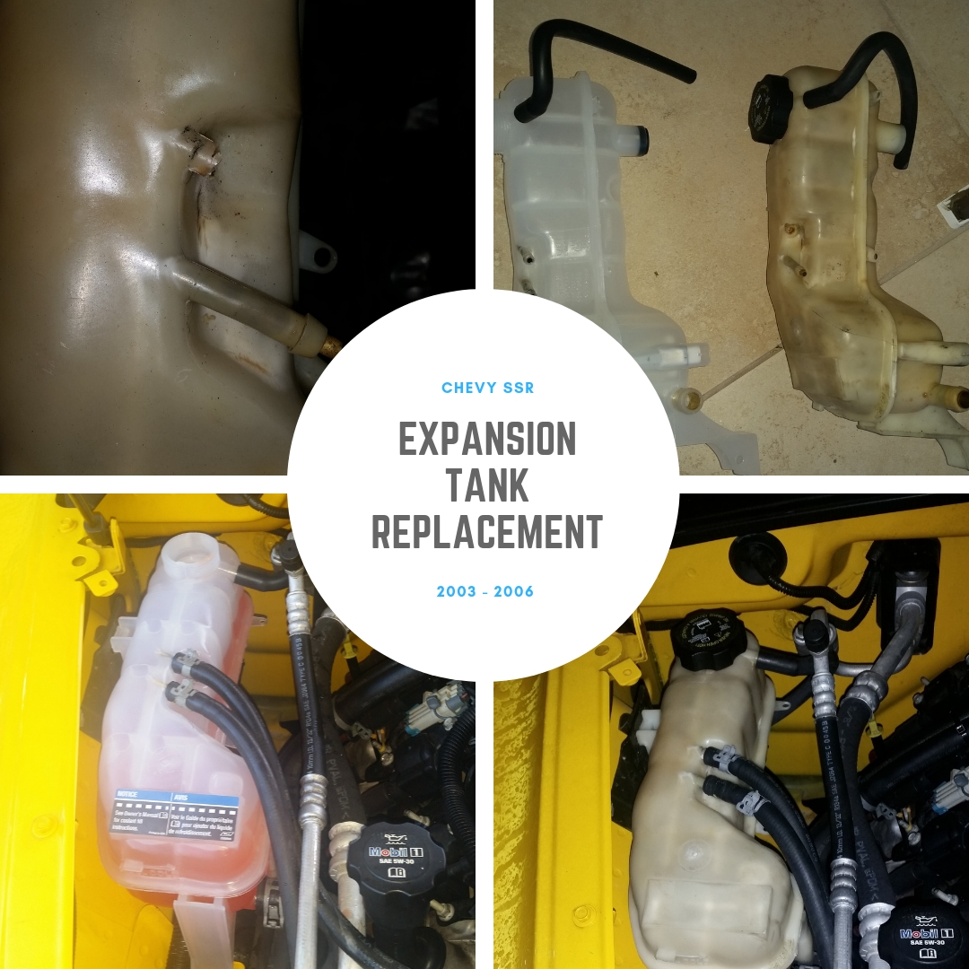 Chevy SSR: Radiator Expansion Tank Replacement