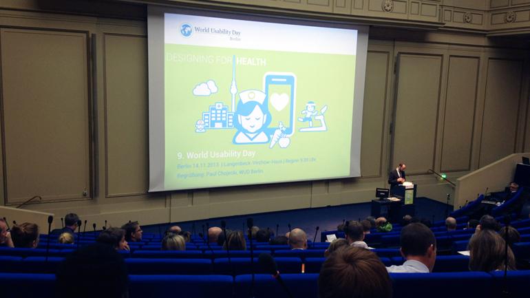 """""""Betreuen Sie schon oder dokumentieren Sie noch?"""" World Usability Day 2013 Berlin"""