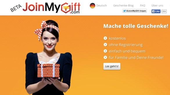 Der heiße Scheiß: JoinMyGift.com