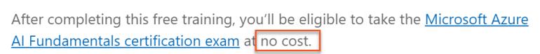 Microsoft Free Exam Confirmation