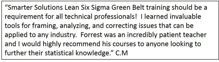 Lean Six Sigma Green Belt Training Testimonial