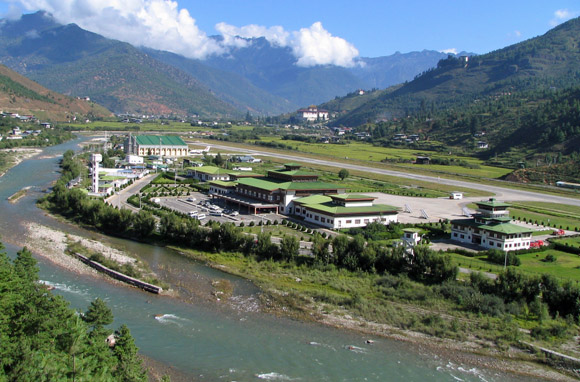 Paro International Airport, Paro, Bhutan